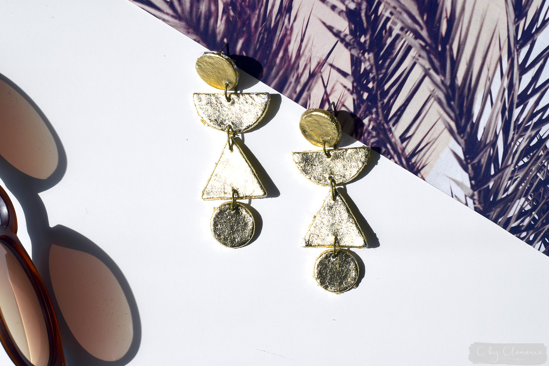 DIY BOUCLES D'OREILLES GRAPHIQUES cbyclemence.com 01