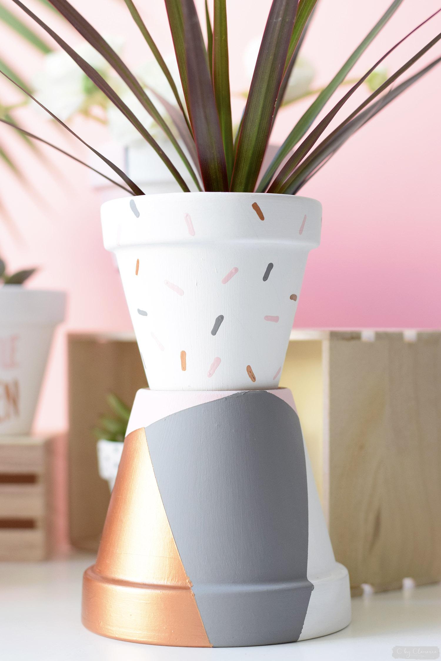 Decoration Petit Pot De Fleur déco : diy petits pots de fleurs graphiques - cclemence