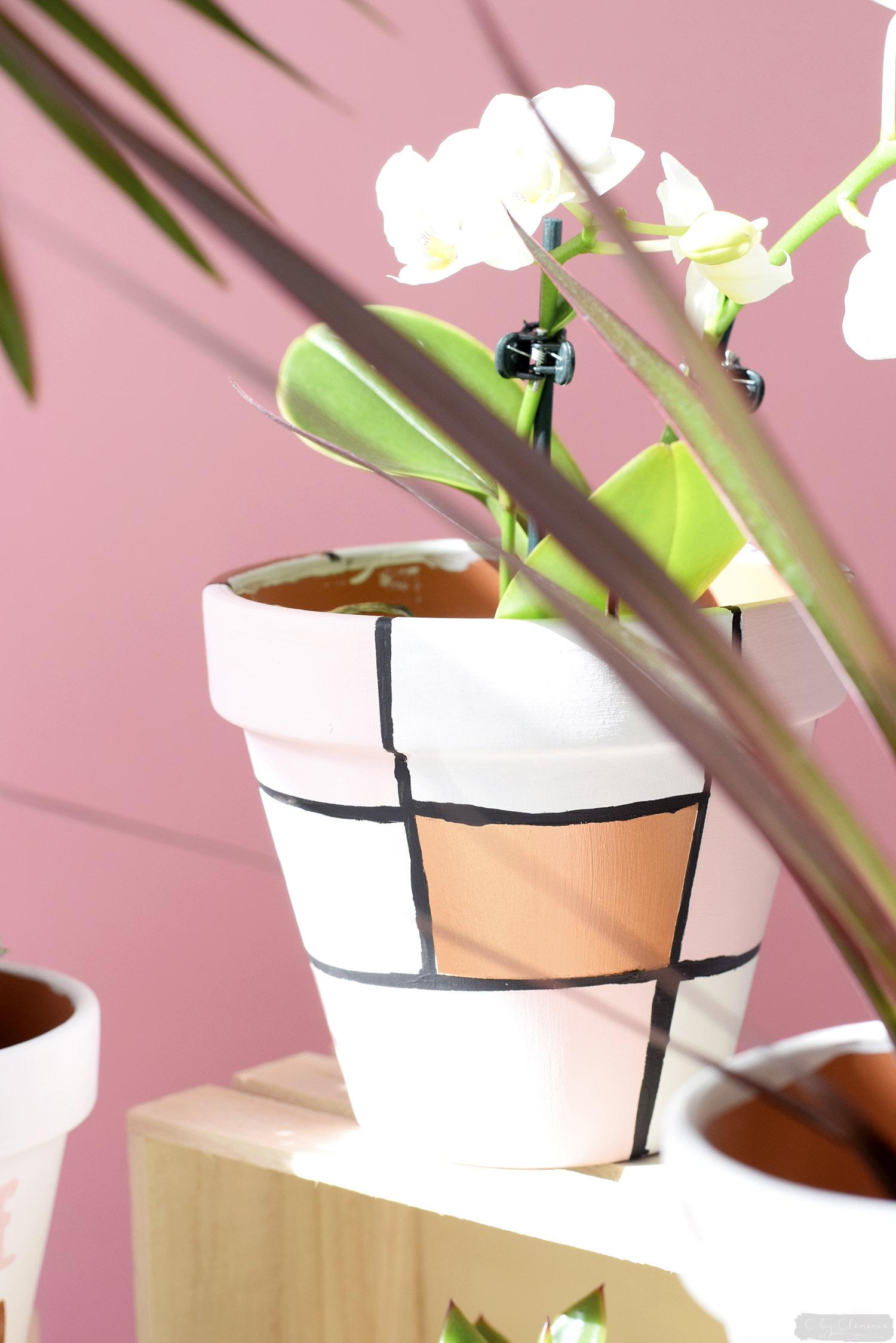 d co diy petits pots de fleurs graphiques c by clemence. Black Bedroom Furniture Sets. Home Design Ideas