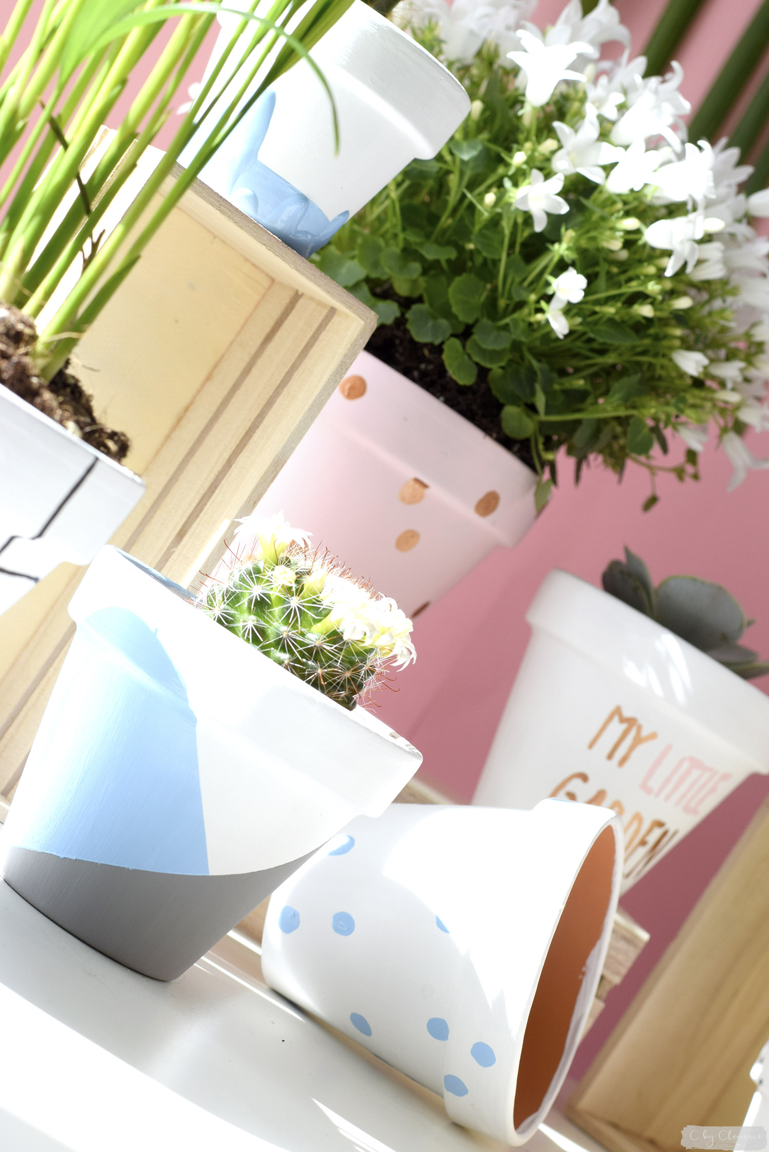 D co diy petits pots de fleurs graphiques c by clemence for Cache pot design interieur