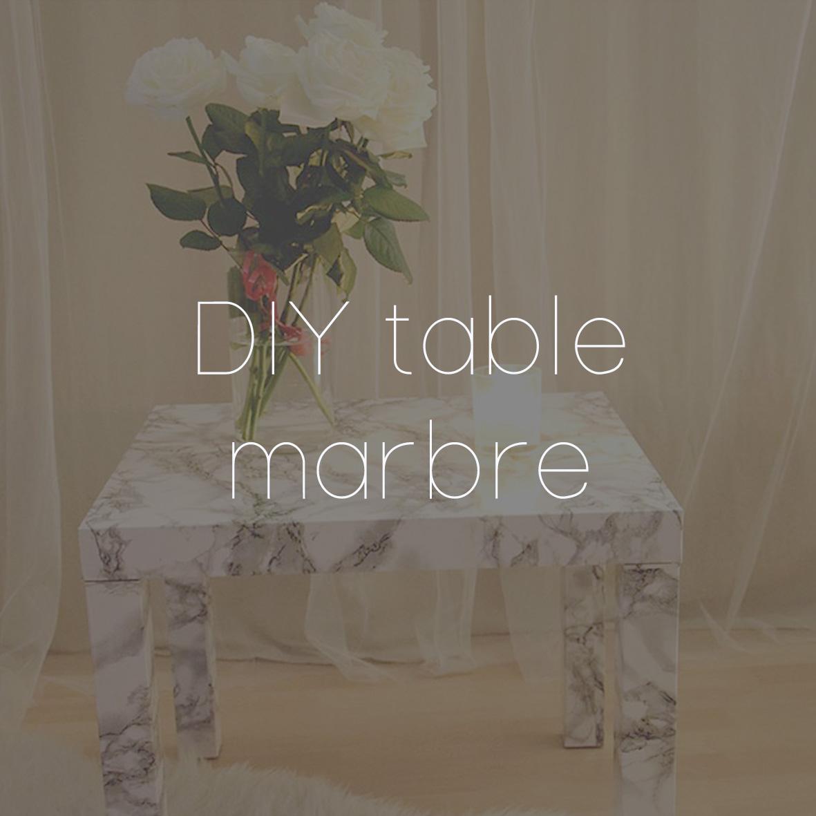 17 DIY TABLE MARBRE