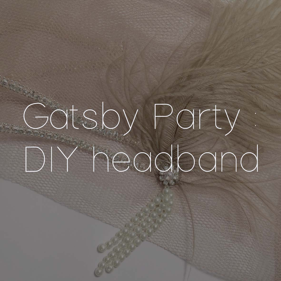 43 GATSBY PARTY DIY HEADBAND