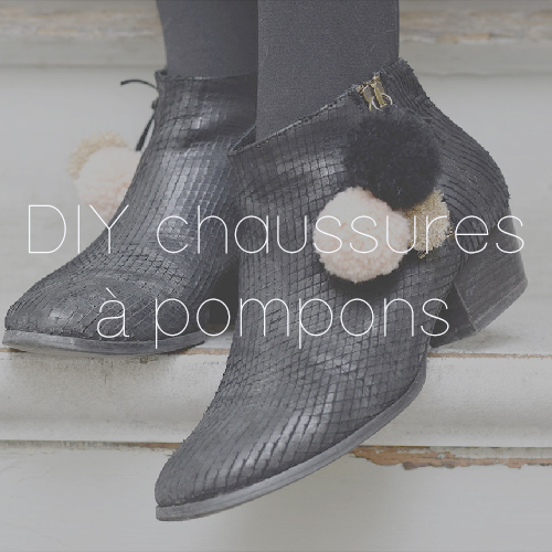 60 DIY POMPONS CHAUSSURES