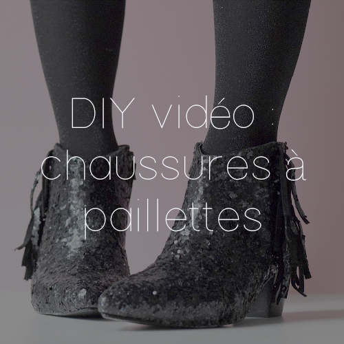 61 DIY VIDEO SHOES PAILLETTES