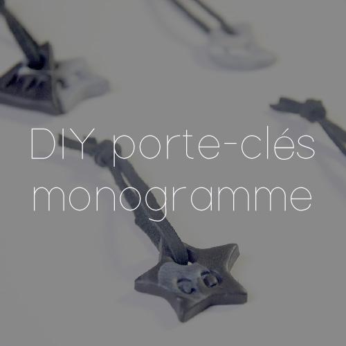 64 PORTE CLE MONOGRAMME