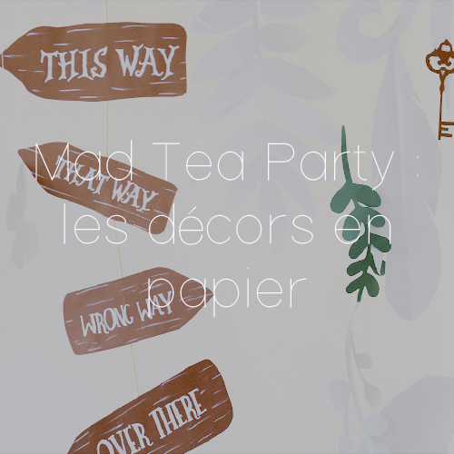 94 DECORS PAPIER MAD TEA PARTY