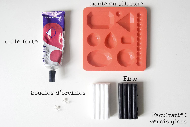 DIY BOUCLES DOREILLES IMITATION PIERRE PRECIEUSE 01