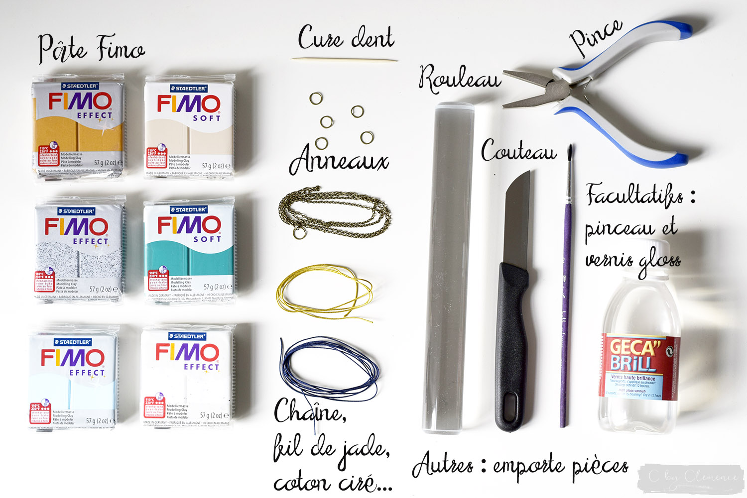 DIY COLLIERS FIMO MARBRES www.cbyclemence.com 01