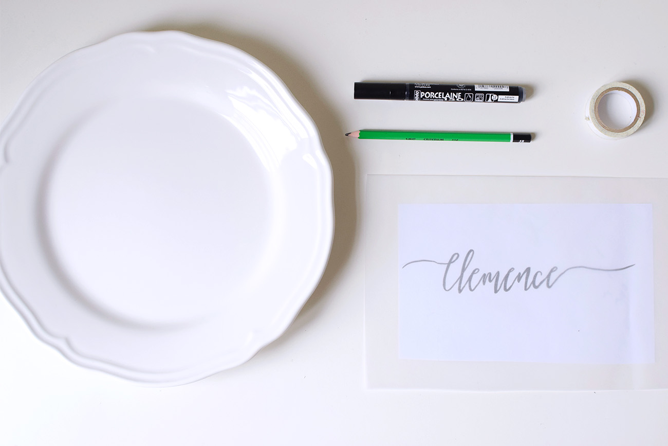 DIY ASSIETTE CALLIGRAPHIE cbyclemence.com 01