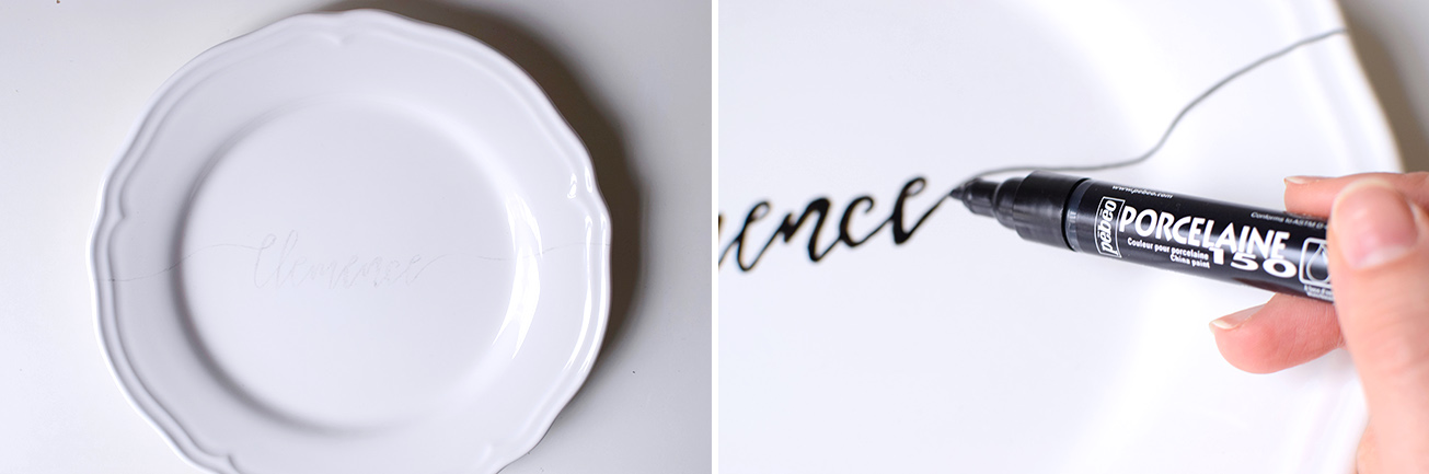 DIY ASSIETTE CALLIGRAPHIE cbyclemence.com 05