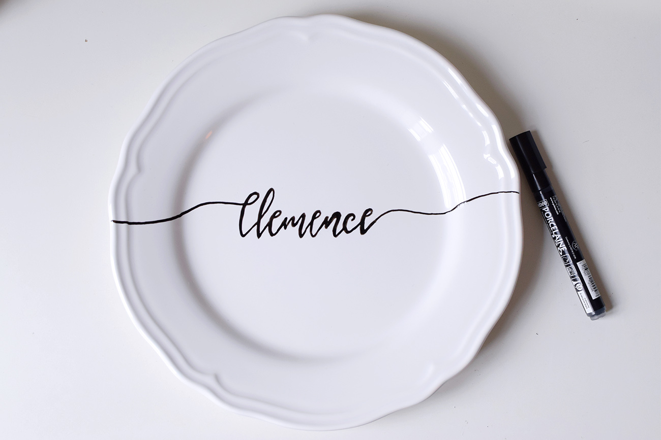 DIY ASSIETTE CALLIGRAPHIE cbyclemence.com 06