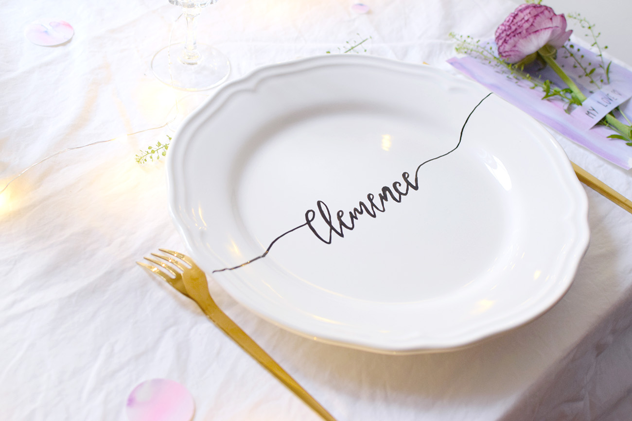 DIY ASSIETTE CALLIGRAPHIE cbyclemence.com 07