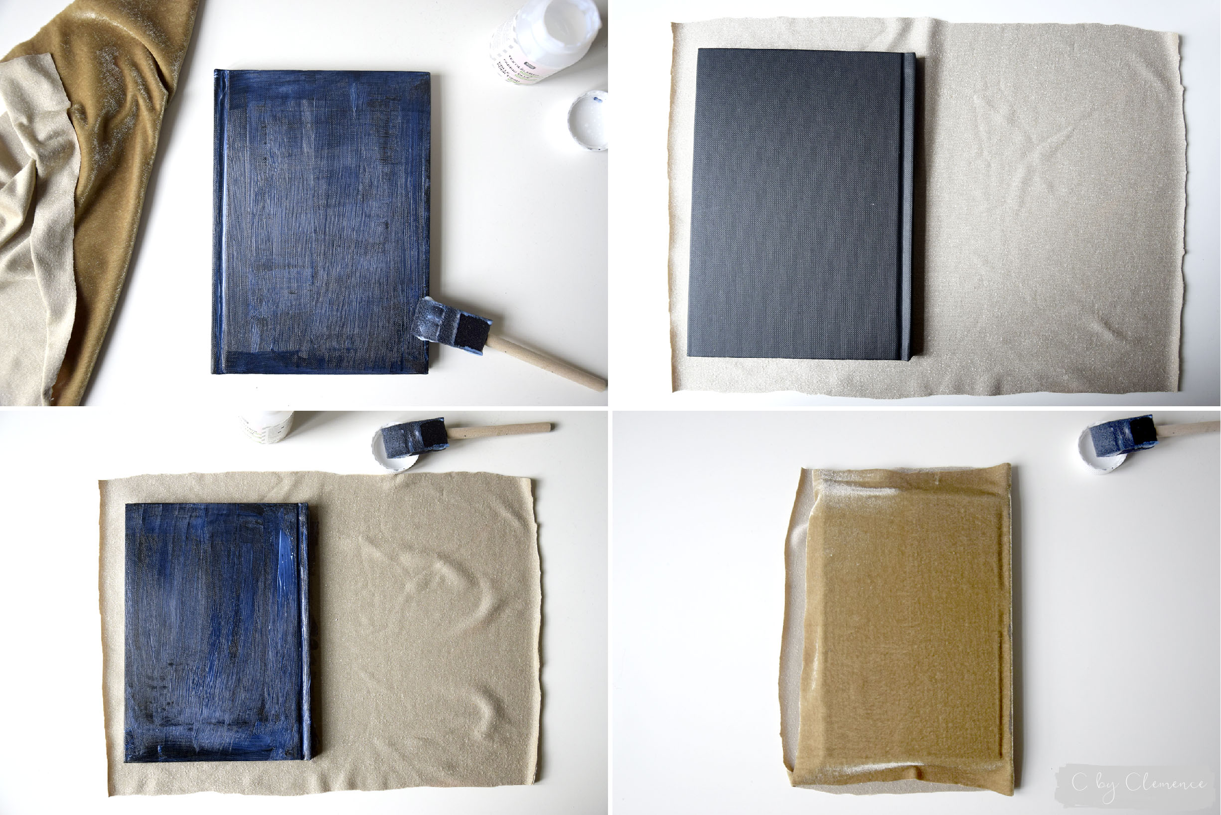 DIY CARNETS DE NOTE EN VELOUR www.cbyclemence.com 03