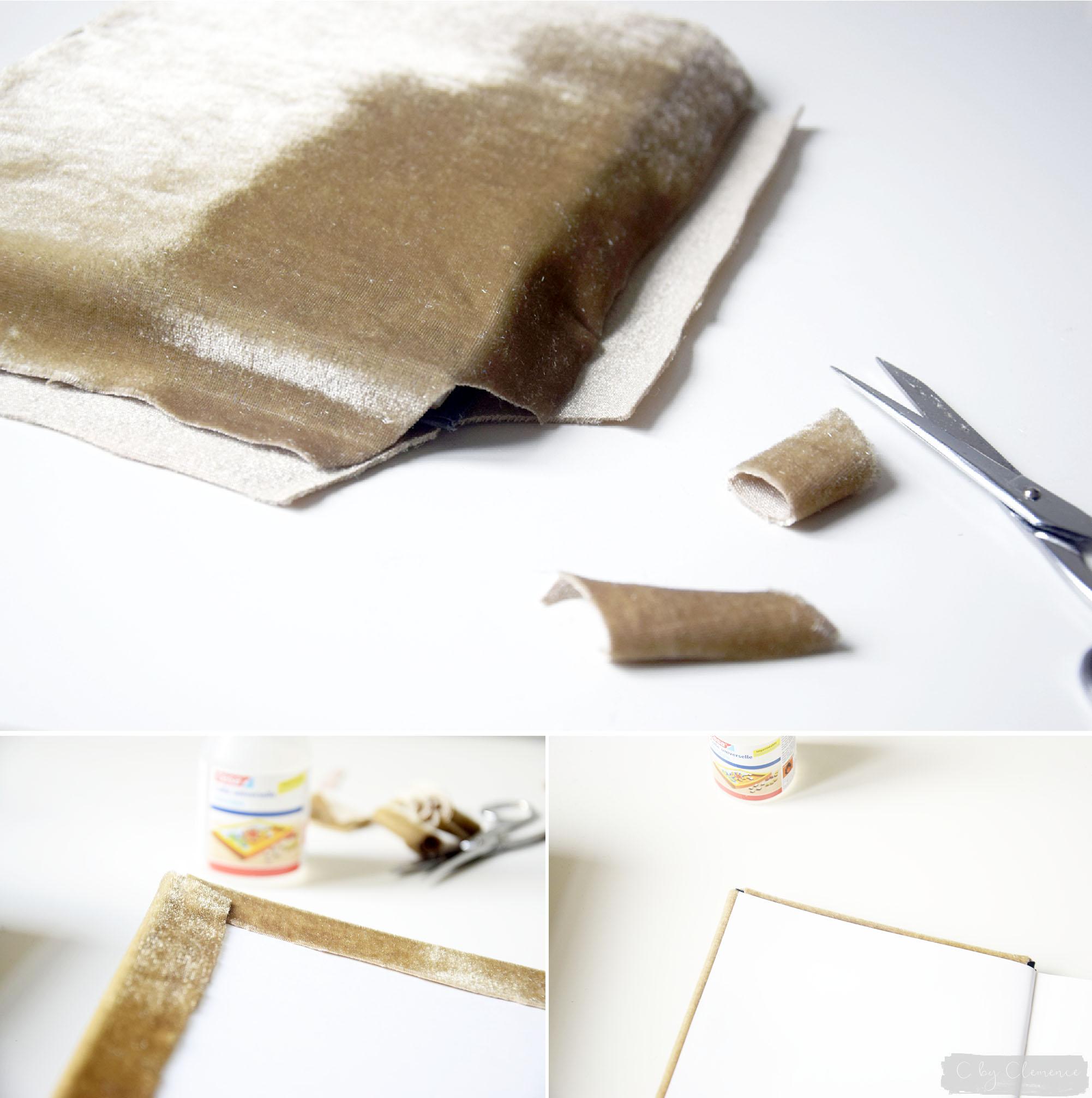 DIY CARNETS DE NOTE EN VELOUR www.cbyclemence.com 04
