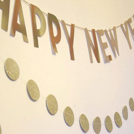 DIY #9 // Déco de soirée : Une bannière « Happy New Year »