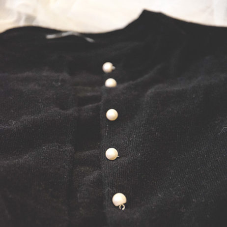 DIY #14 // Mode : un gilet customisé avec des boutons perles