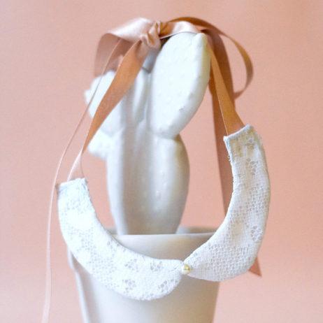 DIY #28 // Bijoux : col claudine en dentelle
