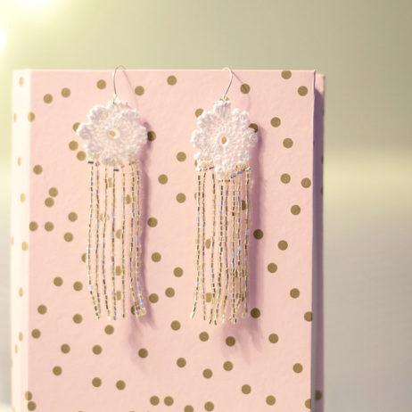 DIY #29 // Bijoux : boucles d'oreilles en dentelle et franges à perles