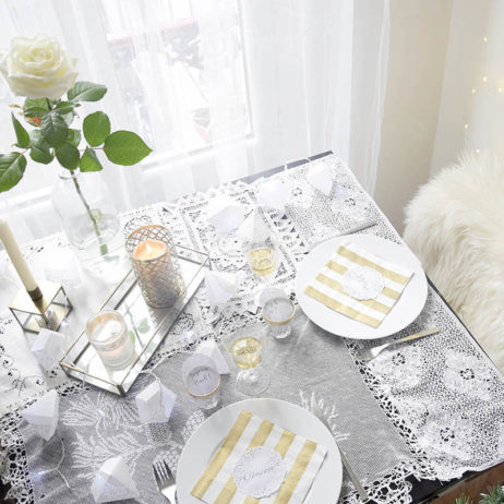 DIY #30 // Noël : décoration de table & nappe en dentelle
