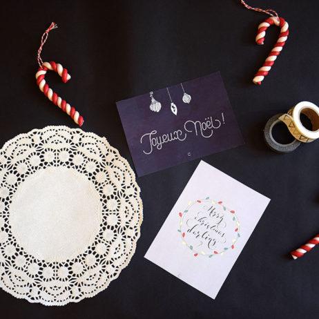 Cartes de voeux à télécharger & DIY enveloppes en dentelle