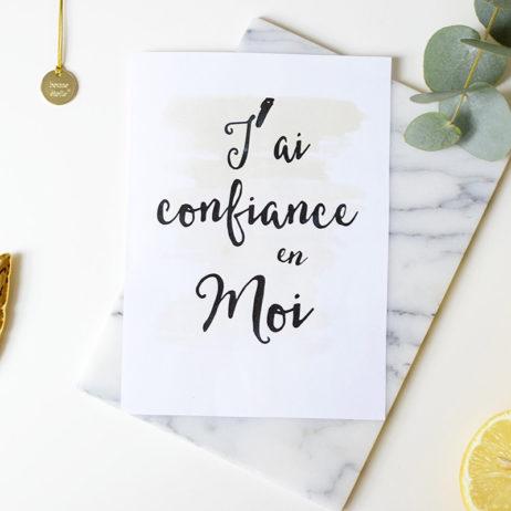 Free printable : le mantra du mois de février