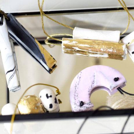 DIY colliers en Fimo : effet marbré, granit & or