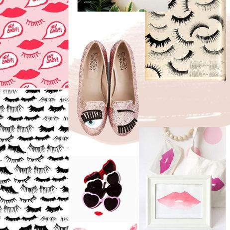 Mood board de mai : inspiration cils et lèvres
