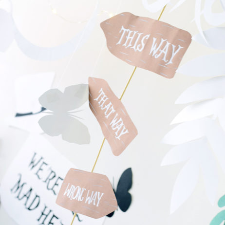 Alice Mad Tea Party : DIY décor en papier
