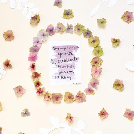 [Printable] Le mantra de la rentrée : créativité et jolies fleurs