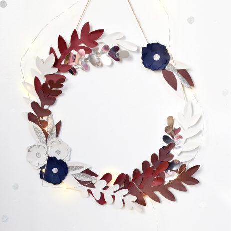 DIY pour CSF #1 : la couronne de fleurs en papier