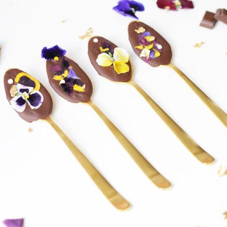 DIY pour CSF #4 : les cuillères fleuries au chocolat