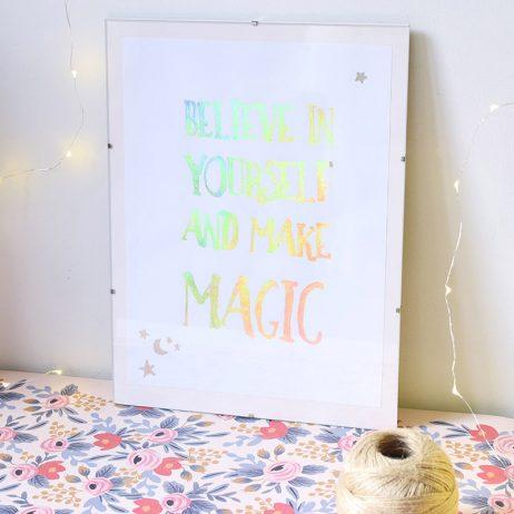 Le DIY de l'affiche magique