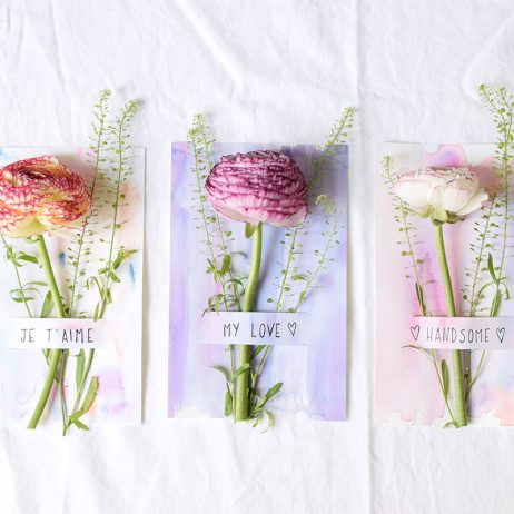 Saint-Valentin : DIY cartes aquarelle fleuries