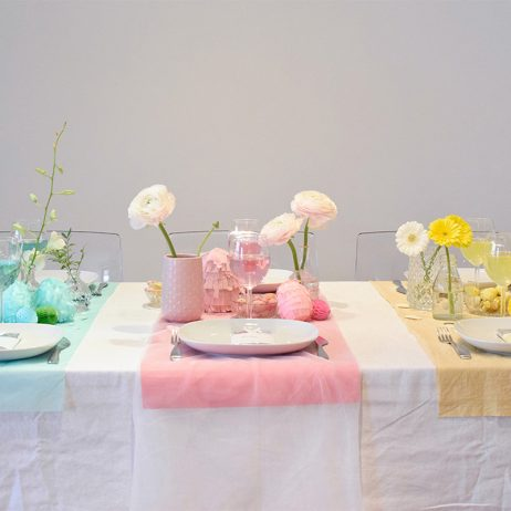 DIY table de Pâques colorblock