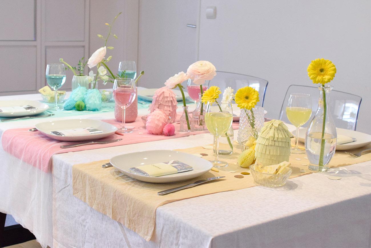diy table de p ques colorblock c by clemence. Black Bedroom Furniture Sets. Home Design Ideas