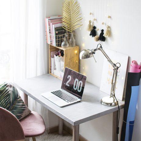 DIY bureau en béton avec Mollie Makes et Résinence (+ concours)