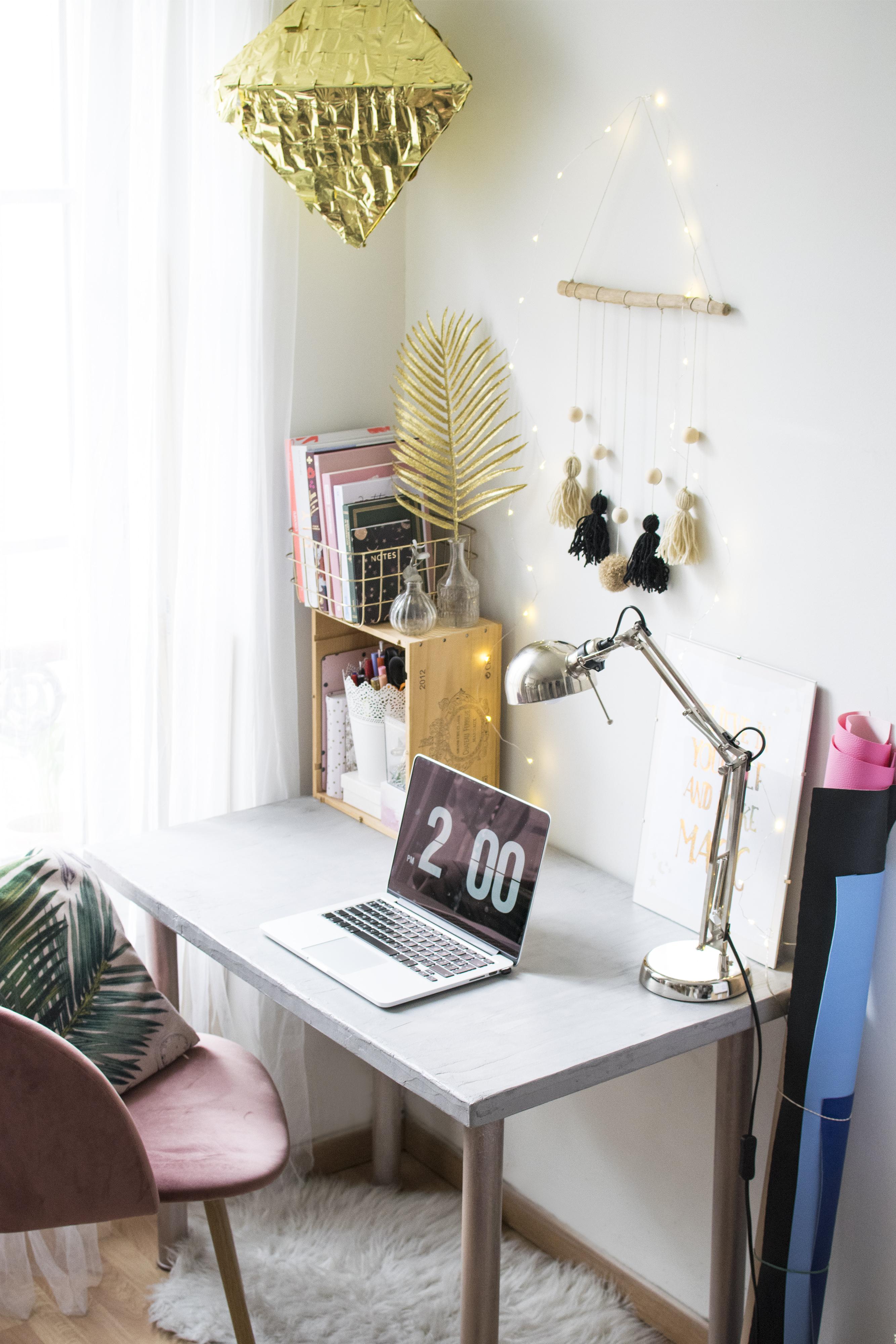 diy bureau en béton avec mollie makes et résinence (+ concours) - c