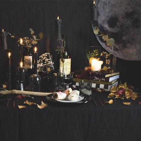 Déco de table clair-obscur pour Halloween