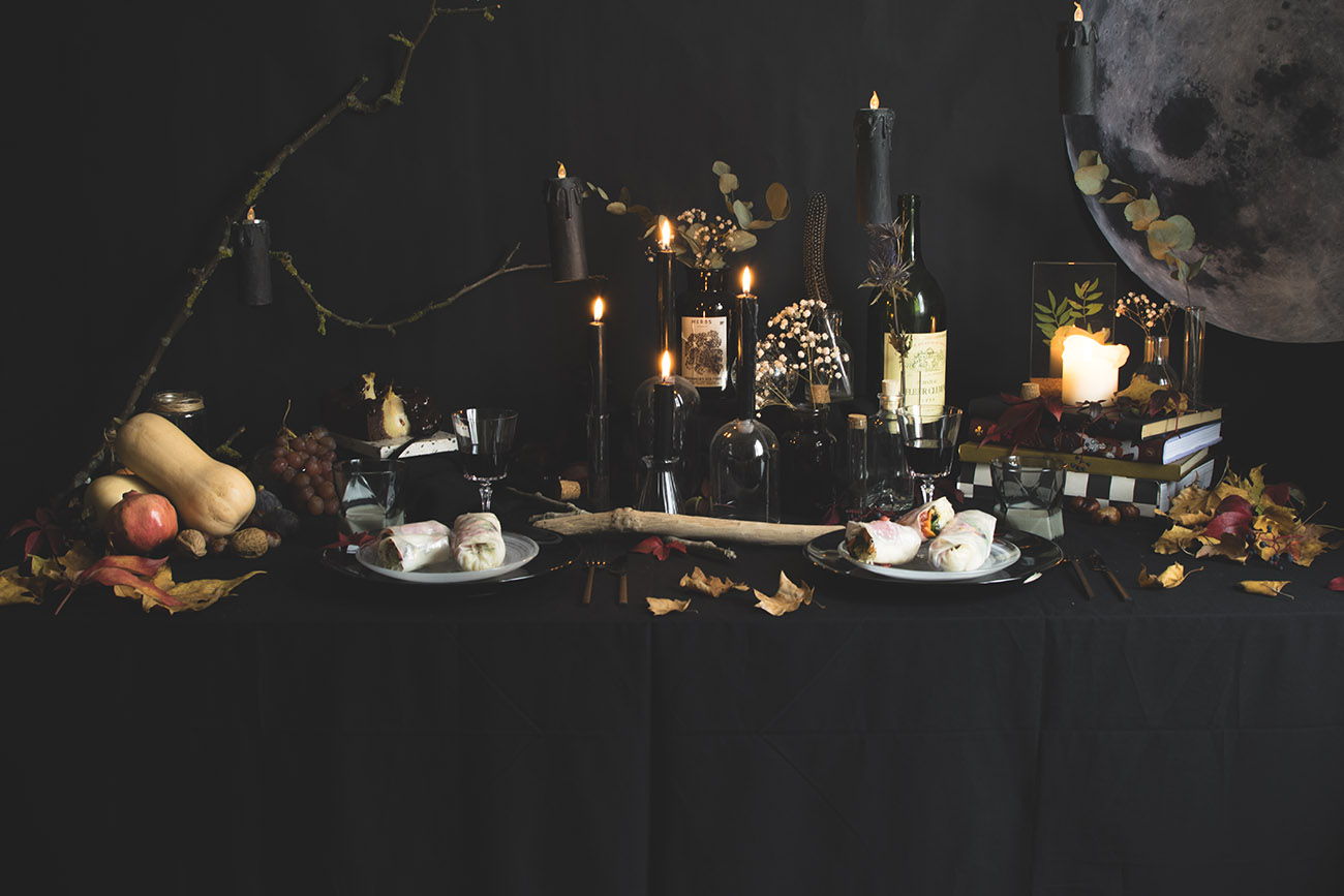 d co de table clair obscur pour halloween c by clemence. Black Bedroom Furniture Sets. Home Design Ideas