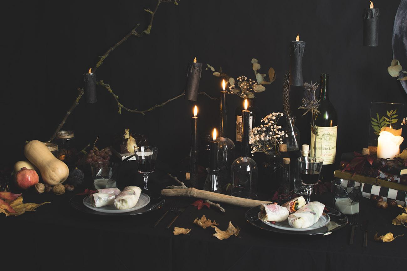 Déco de table clair-obscur pour Halloween - C by Clemence