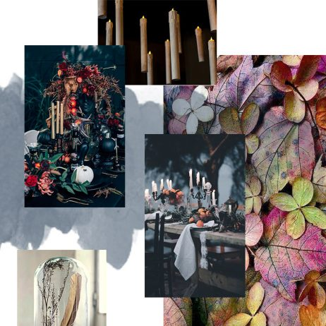 Moodboard Halloween clair – obscur