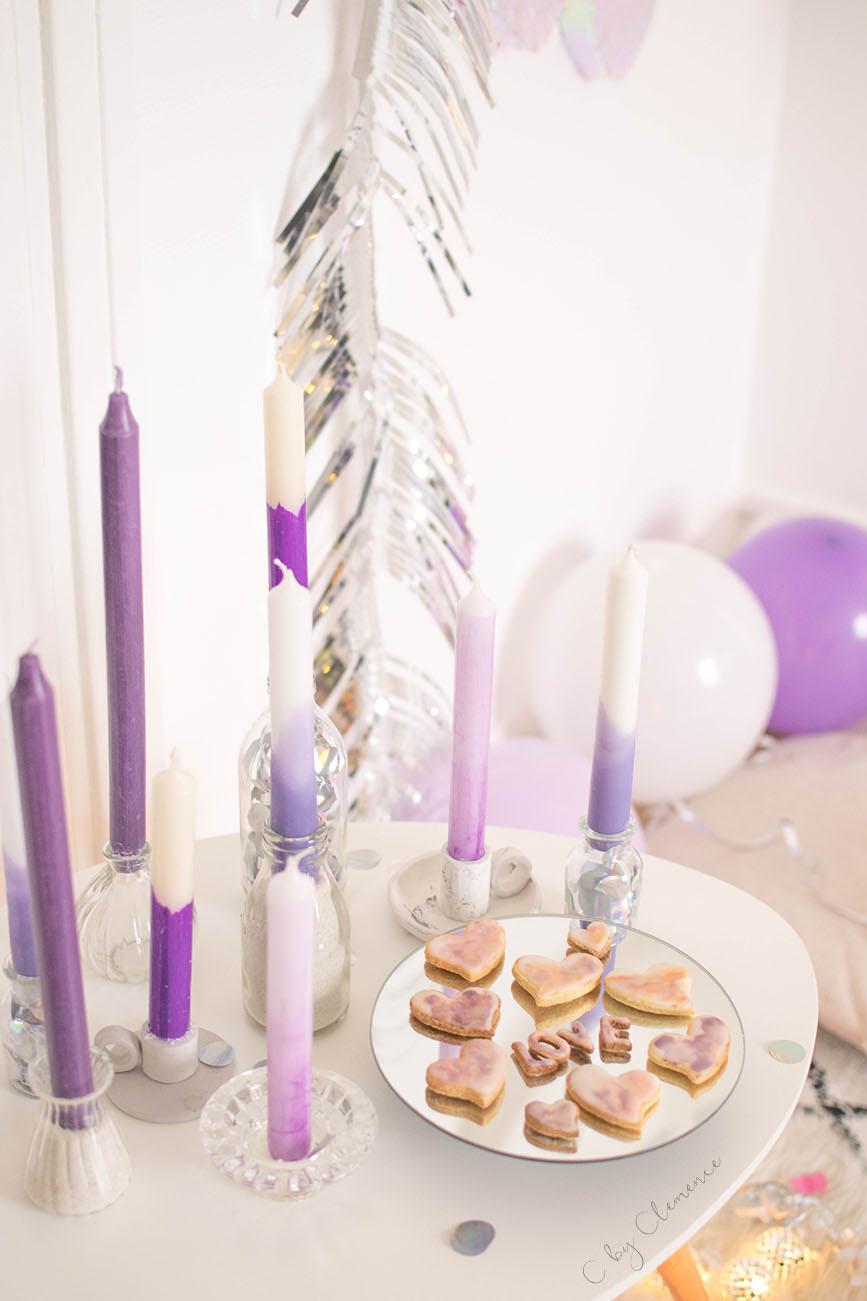 Bougie Décoration De Table déco de table : diy des bougies tie and dye - cclemence