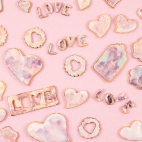 DIY food : la recette des sablés d'amour aux nuances de violet
