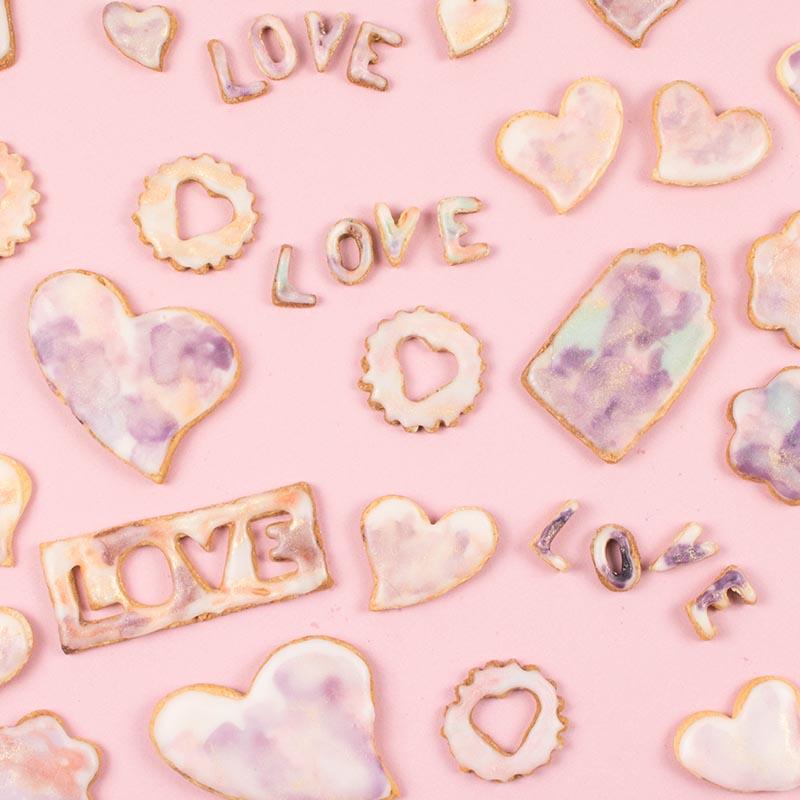 Diy food la recette des sabl s d 39 amour aux nuances de - Les nuances de violet ...