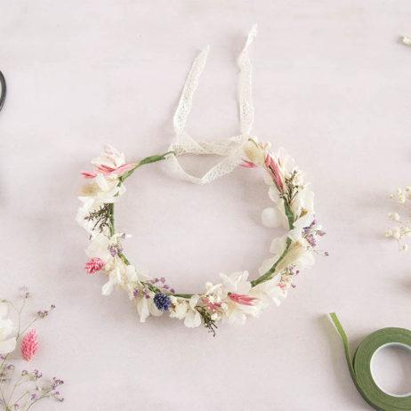 DIY de la couronne de fleurs séchées