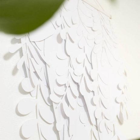 DIY déco murale de feuillages en papier