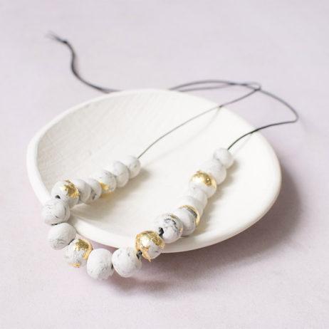 DIY collier sautoir marbre & gold