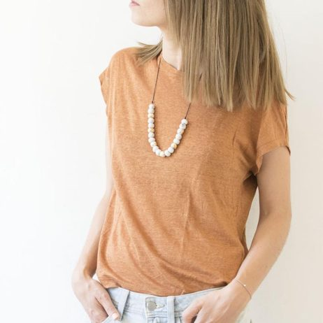 DIY collier sautoir marbre & gold