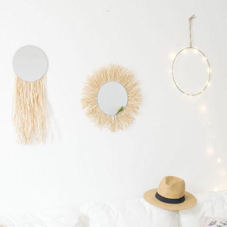 DIY déco : les miroirs en raphia