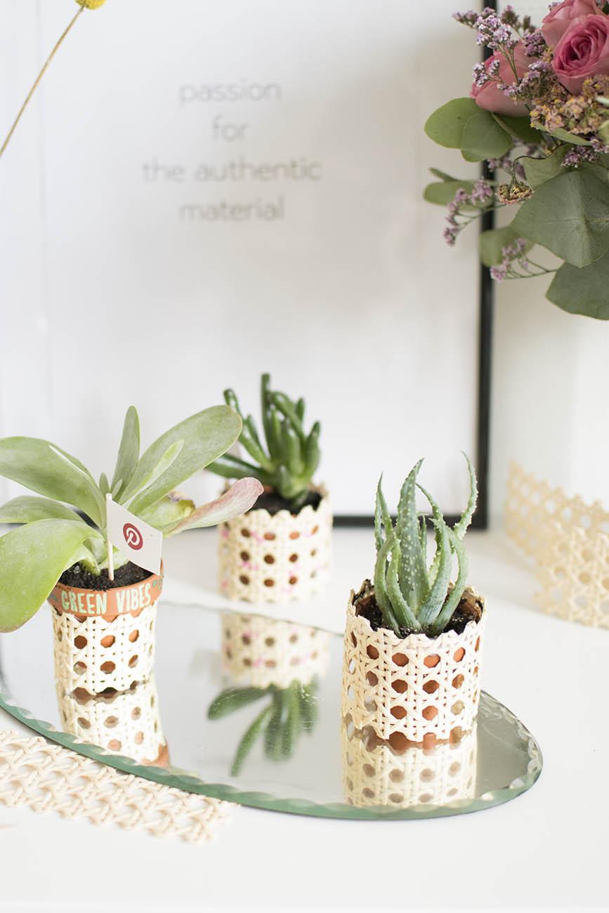 Decoration Petit Pot De Fleur diy déco : les petits pots de fleurs en cannage (+ atelier